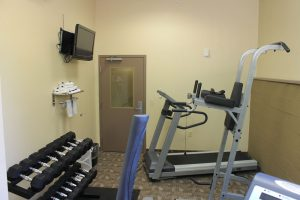 Hotel fitness room at Crystal Springs Inn & Suites Towanda, PA