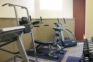 commercial gym equipment at gym at Crystal Springs Inn & Suites Towanda, PA